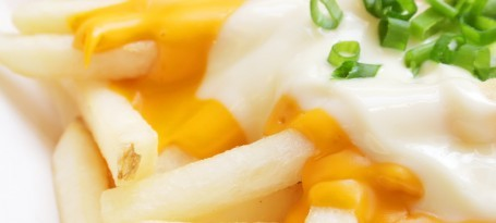 Melted cheese and chips