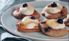 Blueberry and vanilla blinis