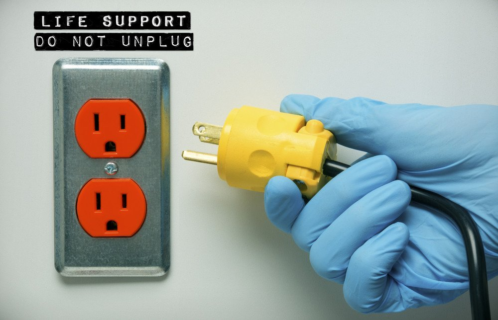 life support; pulling the plug