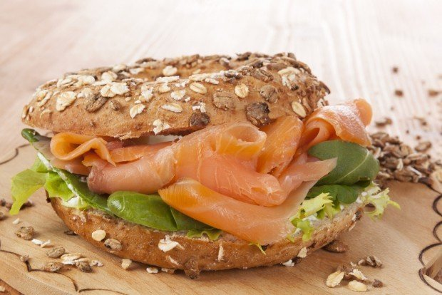 whole grain salmon sandwich