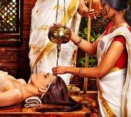 A woman having a Ayurveda massage