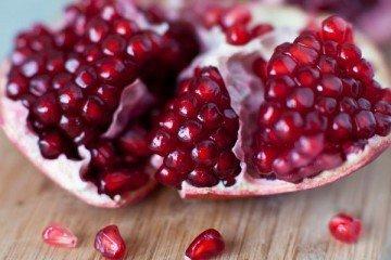 Pomegranate breakfast