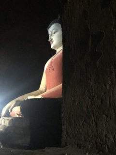Buddha inside a temple in Bagan copy