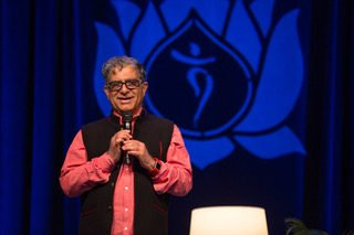 Deepak Chppra at the Living in Balance Retreat