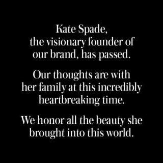 Suicides: Kate Spade Tribute