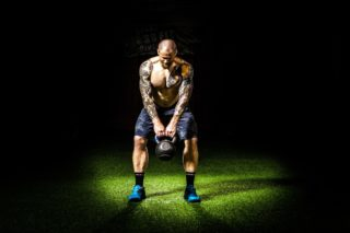 kettlebell squats [longevity live]