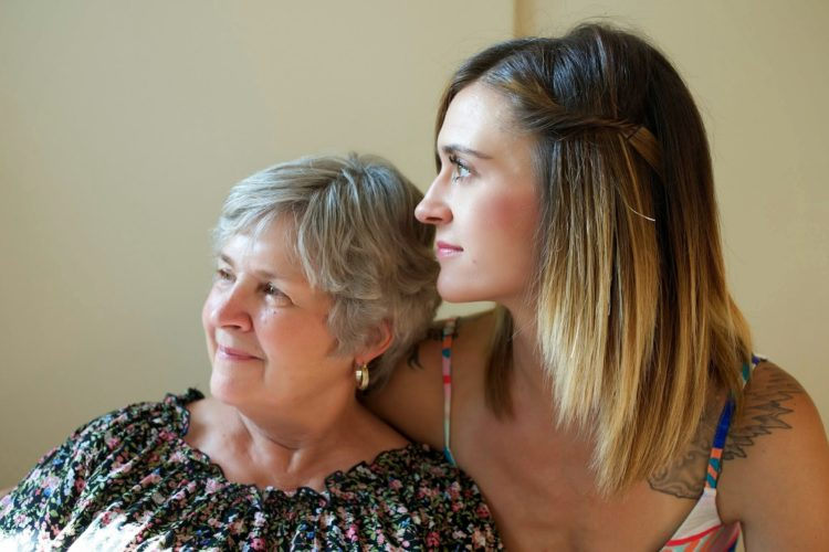 mother and daughter embracing resilience