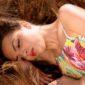 woman lying on side